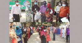 বাঘারপাড়ায় ১২০ পরিবারে সরকারি খাদ্যসামগ্রী বিতরণ