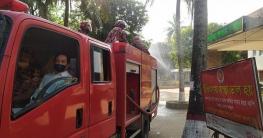 বাঘারপাড়ায় করোনার বিস্তাররোধে পৌর এলাকায় প্রতিরোধ অভিযান