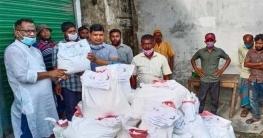 কেশবপুরে ঘরবন্দি যুবলীগ নেতাকর্মীদের খাদ্যসামগ্রী দিলো পরশ-নিখিল